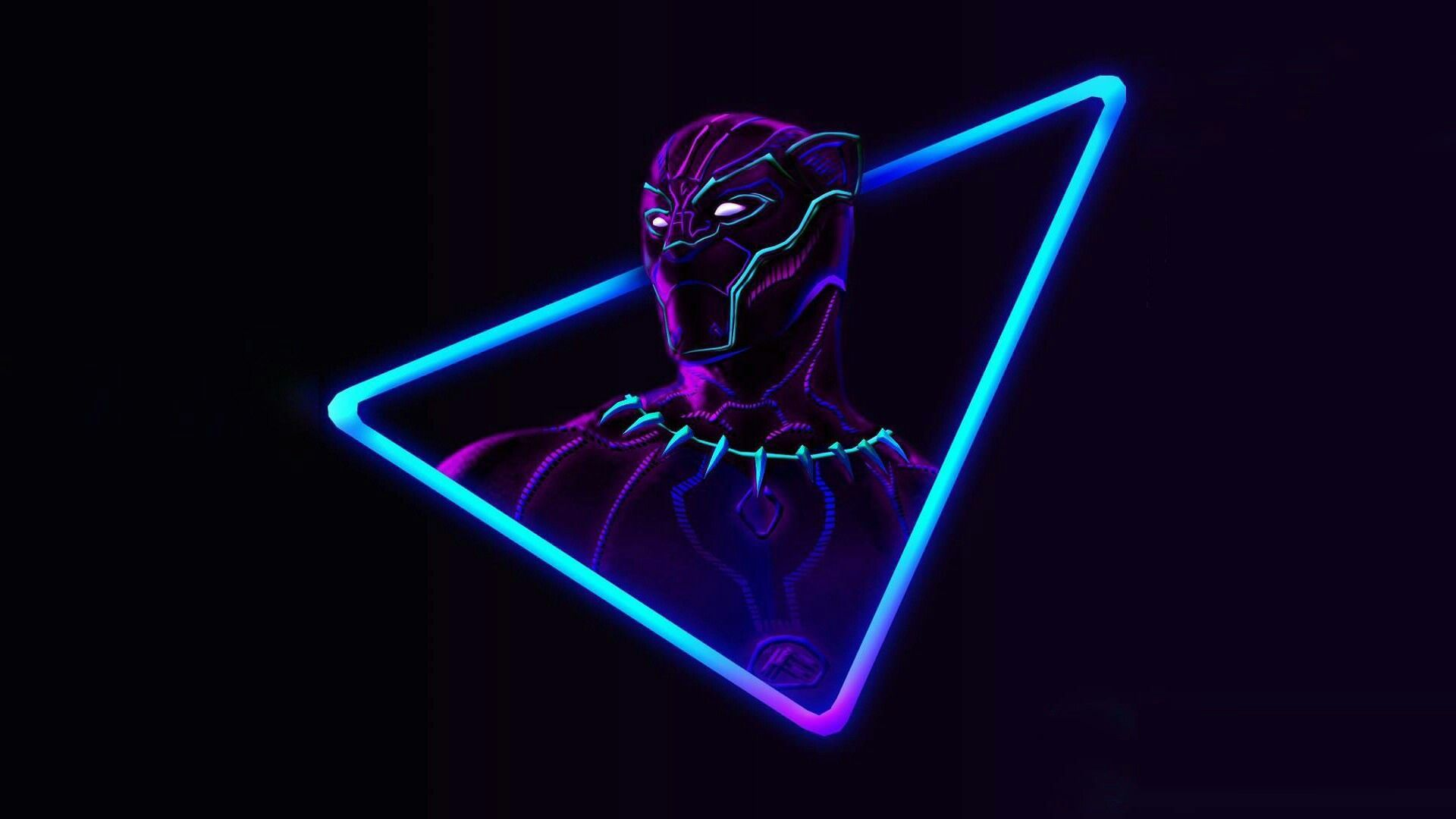 Black Panther Neon Marvel Wallpaper Hd Avengers Wallpaper Cool Desktop Wallpapers