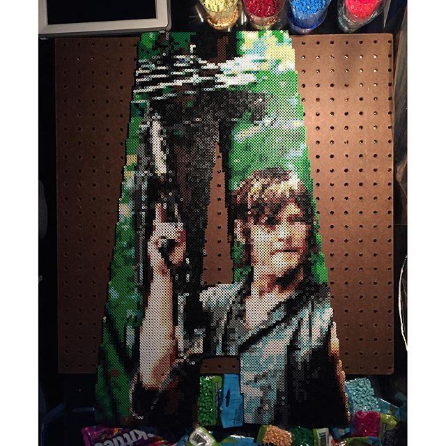 A - Daryl Dixon - The Walking Dead perler bead project by  bgkayz