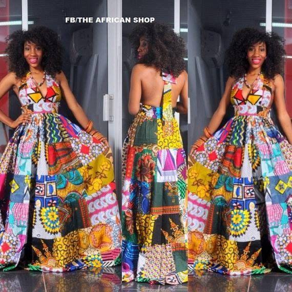 NEW Africa Dress van THEAFRICANSHOP op Etsy