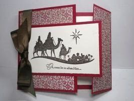 Good Morning Everyone! My share for today is a Christmas Card made with the Stampin' Up Come To Bethlehem Stamp Set. This is a different ...