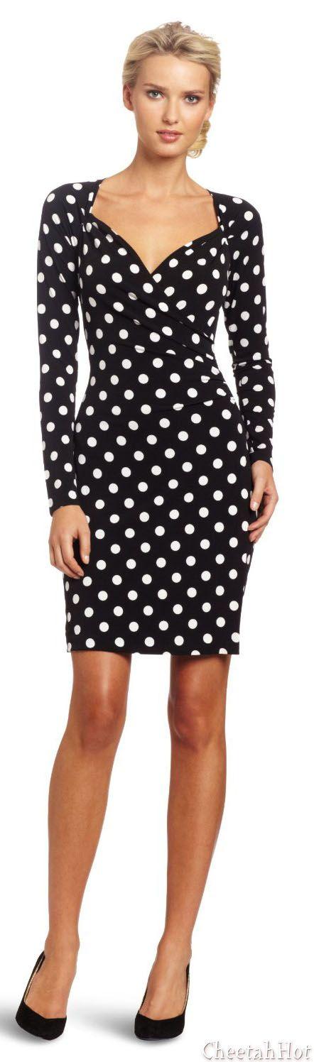 KAMALIKULTURE Women's Long Sleeve Side Draped Dress