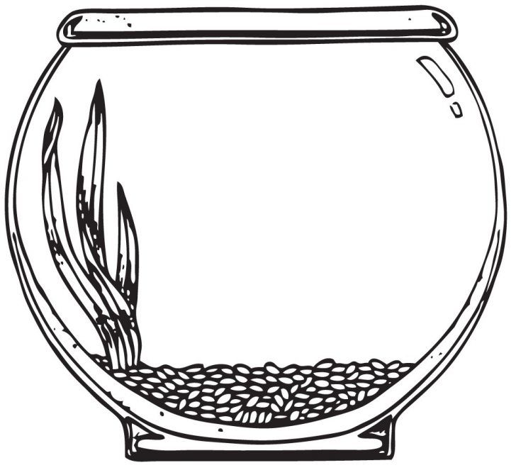 fish-bowl-coloring-page | coloring pages | Pinterest