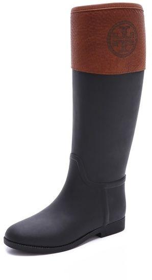 bb117f996 Tory Burch Diana Rain Boots on shopstyle.com Boot Heels