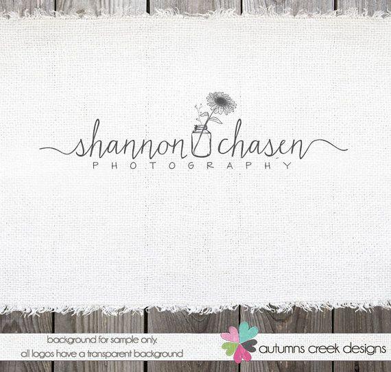 Premade Logo  Hand Drawn Mason Jar & Sunflower by autumnscreek, $40.00