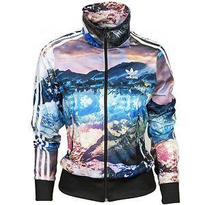 6f18f1053912 Womens Adidas Originals Mountain Clash Firebird Track Jacket TOP Size L