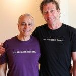 Trevor with Lino Miele - Lino's workshop weekend at Infinite Yoga San Diego