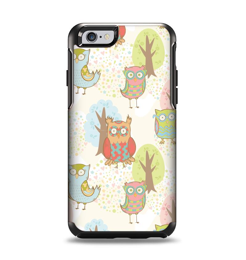 The Various Cartoon Owls Pattern Apple iPhone 6 Otterbox Symmetry Case Skin Set