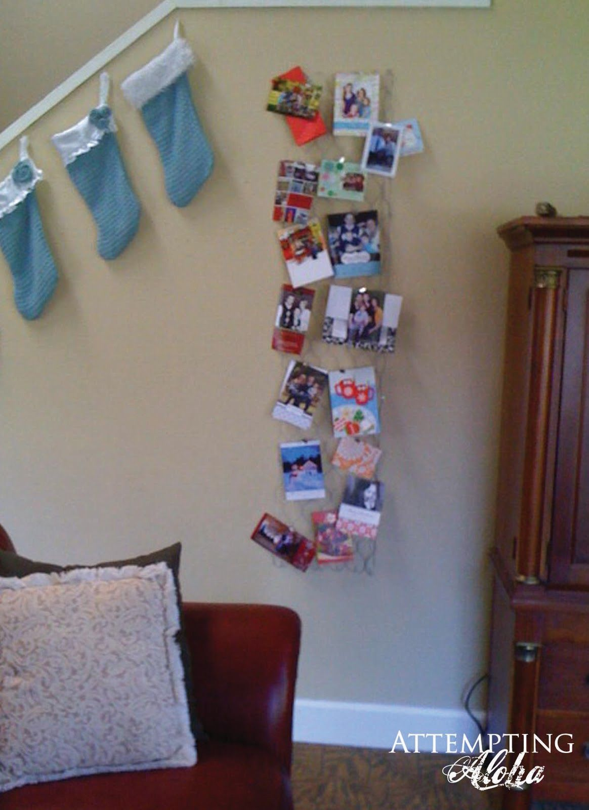 Attempting Aloha: Chicken Wire Christmas Card Display | Christmas ...