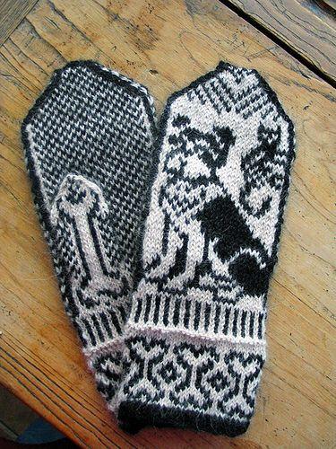 schnauzer mitts done | Knitting patterns, Schnauzer art ...