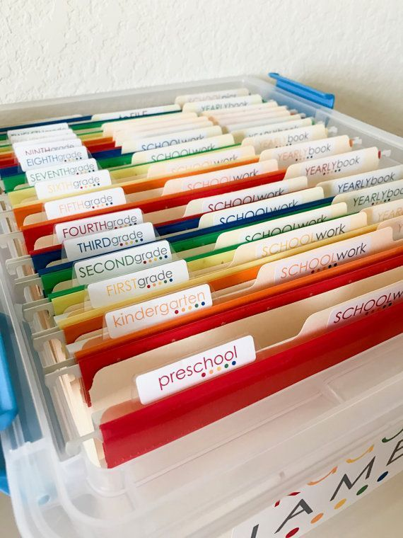 School Work Filing System Organization Labels  Water resistant Custom Name Label Stickers S School Work Filing System Organization Labels  Water resistant Custom Name Lab...