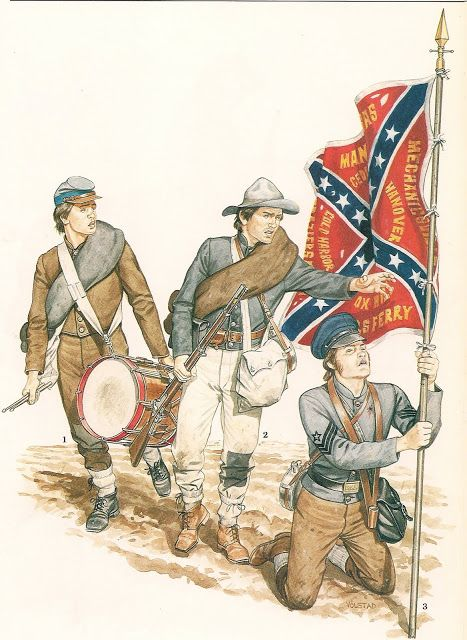MILITARY MINIATURES by Alfons Canovas: SOLDIER Confederate Army (Work of PHILIP Katcher) illustrated by RON VOLSTAD-El..