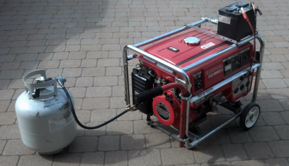Generator Conversion To Propane And Natural Gas Without Any Kits Diy Generator Propane Tri Fuel Generator