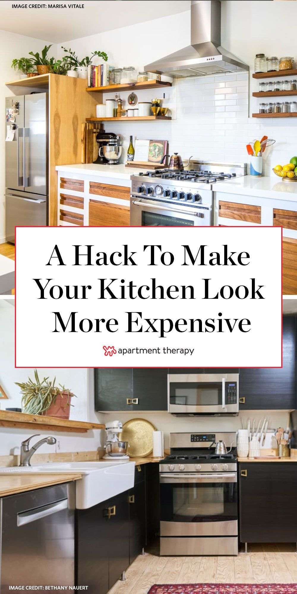 The Easy Affordable Trick For Making Your Kitchen Look Way More Expensive How To Make Kitchen Cabinets Kitchen Redo Kitchen Cabinets