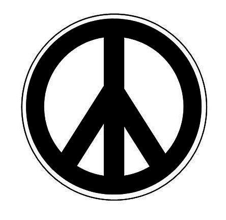 Retro Flashback B W Peace Sign Symbol Pin Button 1 Inch