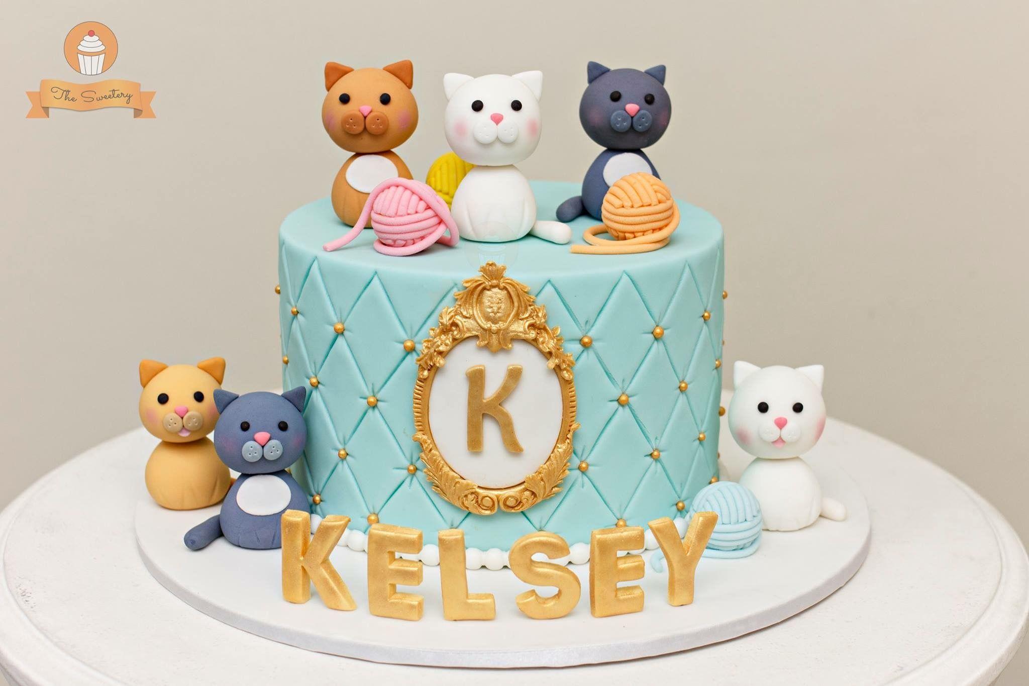 Terrific Cat Cake Cats Cake Kittens Catcake The Sweetery By Diana Funny Birthday Cards Online Ioscodamsfinfo