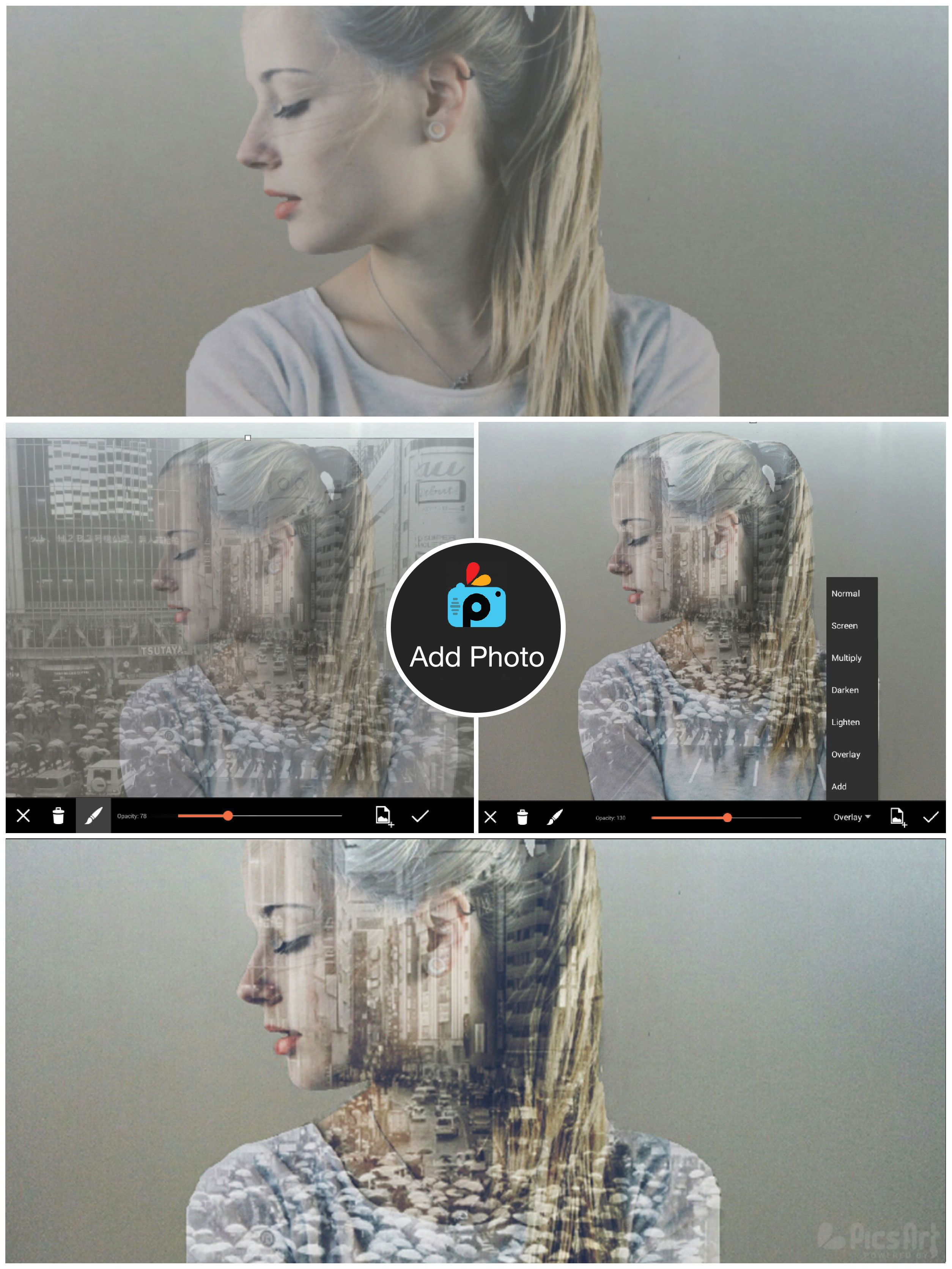 This Tutorial Shows You How To Create An Amazing Double Exposure Using The Picsart App A Double Exposure Is The Double Exposure Picsart Photoshop Photography