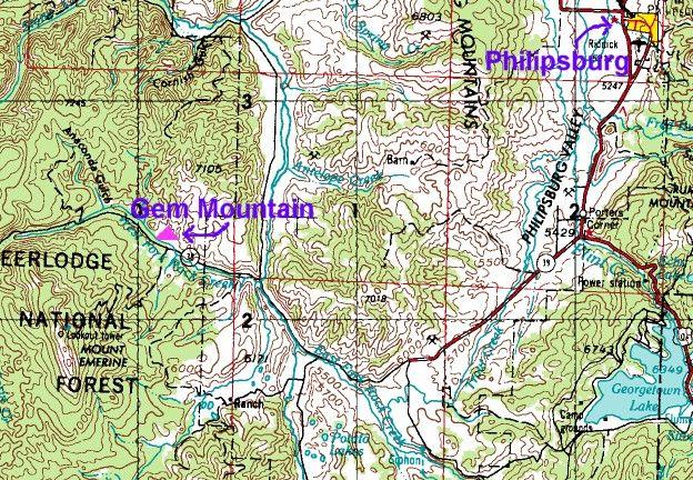 Sapphire Mountains Montana Map.Retail Rocks And Gems Spokane Above Gem Mountain Sapphire Mine