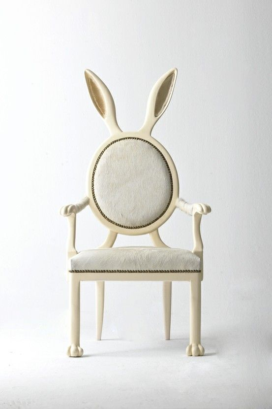 bunny chair... in honor of my Smokey