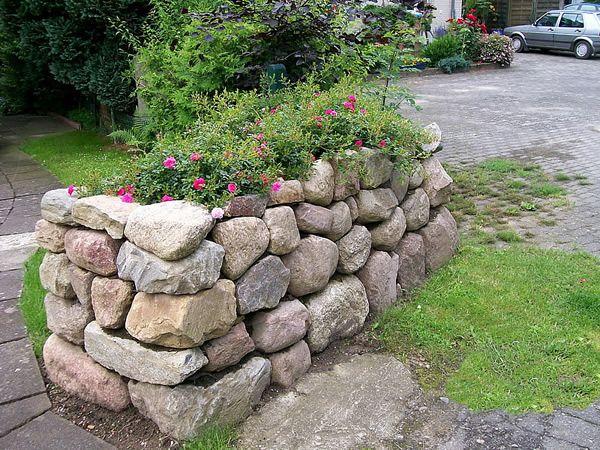 Natursteinmauer - Landschaftsbau Nord Mauer Pinterest - steinmauer im garten
