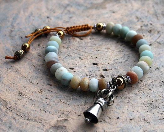 Frosted Ite Wrist Mala Bracelet Look4treasures On Etsy 24 95