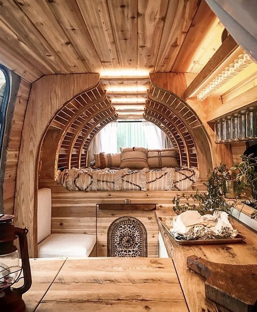 Diy Interior Designer: 24 Classy Natural Wood Ideas For RV Renovation