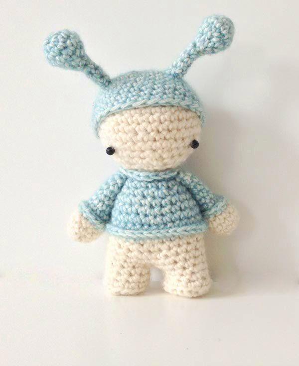 Hæklet alf - Lityfa / kleine elf - FREE pattern | Crochet - Dolls ...