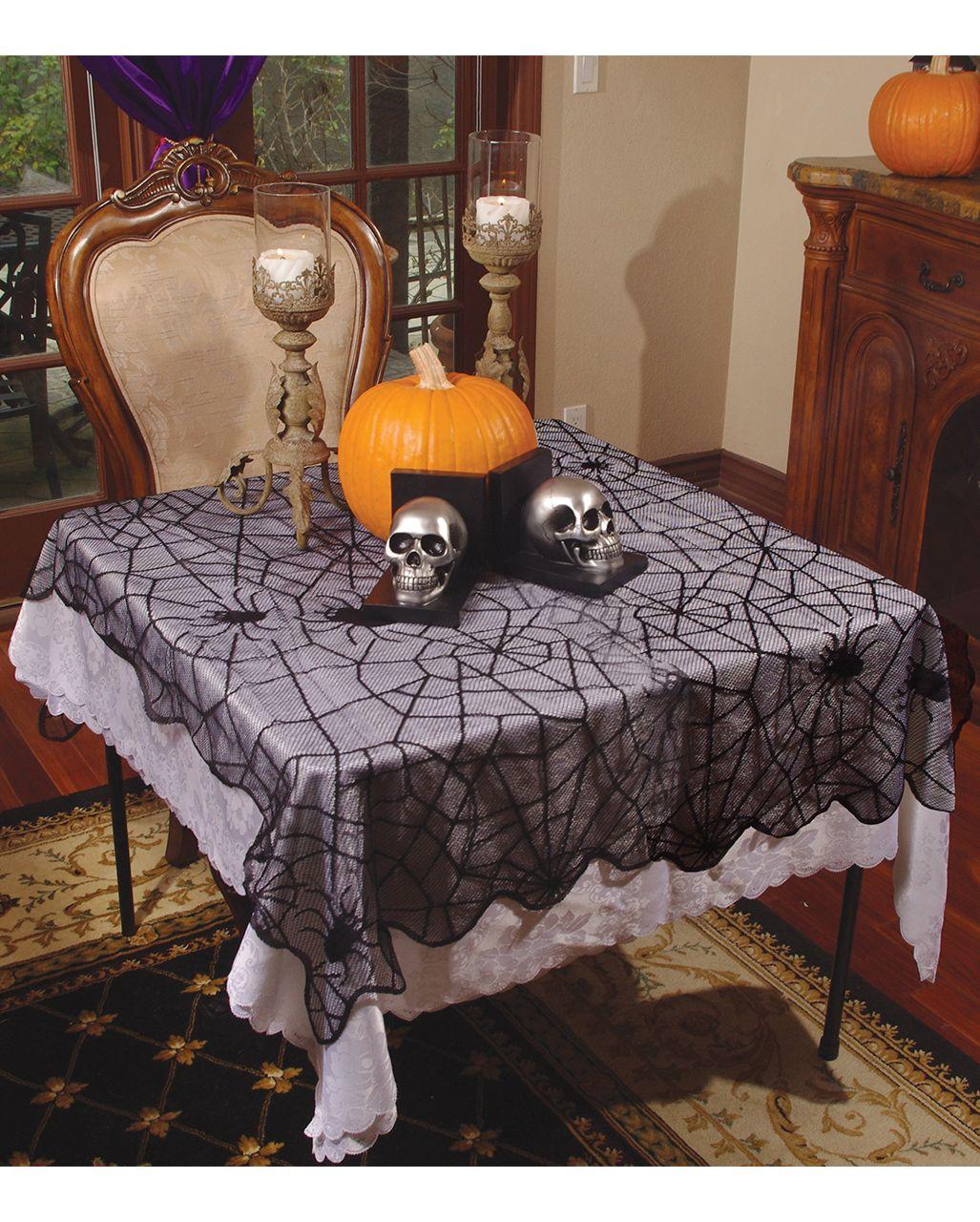 Spinnweben Stofftischdecke 99 X 200 Cm Spitzen Tischlaufer Spitzen Dekor Und Halloween Tisch