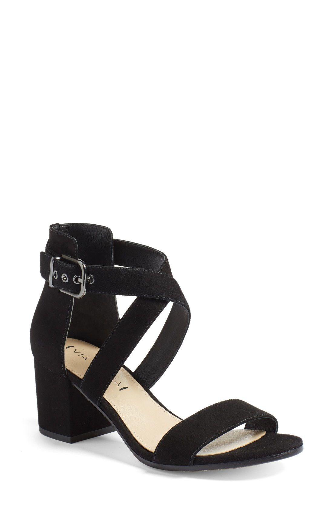 425bc9e5550 Via Spiga  Jobina  Crisscross Strap Block Heel Sandal (Women) available at   Nordstrom
