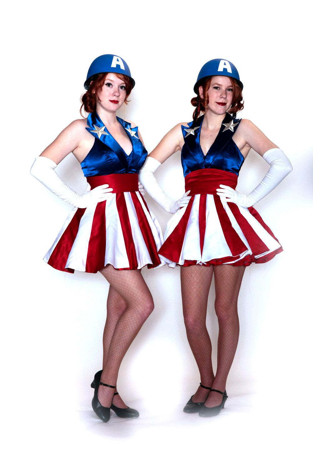 Custom size Captain America USO girl costume by aeriat on Etsy ... a2b93b7ce179