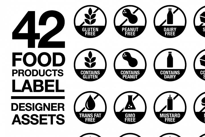 42 Food Allergy Products Label Version 2 Svg Ai Eps 328041 Icons Design Bundles Gluten Free Logo Food Allergies Vegan Eggs