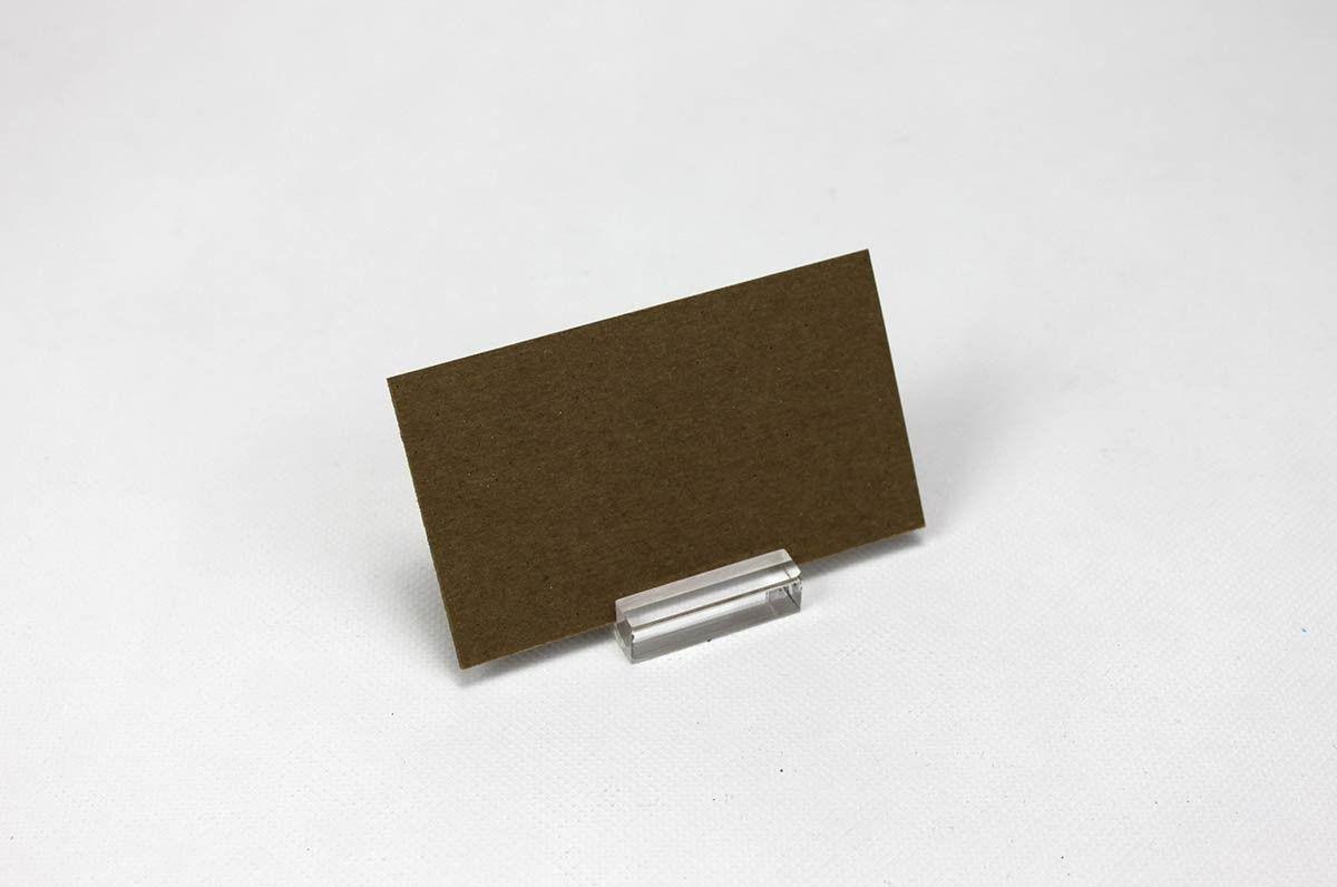 Slot Block Card Holder Minimalist Clear Acrylic Block Card Stand