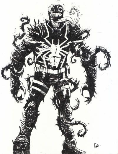 Agent Venom Sketch | Venom | Pinterest