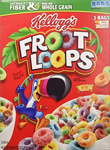 kelloggs froot loops cereal 436 total ounce two bag value box