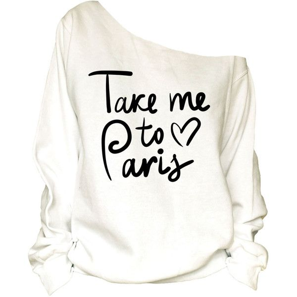 Paris Print Oversized Off Shoulder Raw Edge Sweatshirt(72) (1,360 PHP) ❤ liked on Polyvore featuring tops, hoodies, sweatshirts, shirts, sweaters, black, women's clothing, cotton hooded sweatshirt, off the shoulder shirts and sleeve shirt
