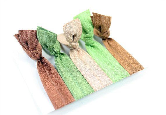 No Tug Hair Ties  Bamboo Package set of 5 Elastic Hair ties perfect ... f1fbc222757