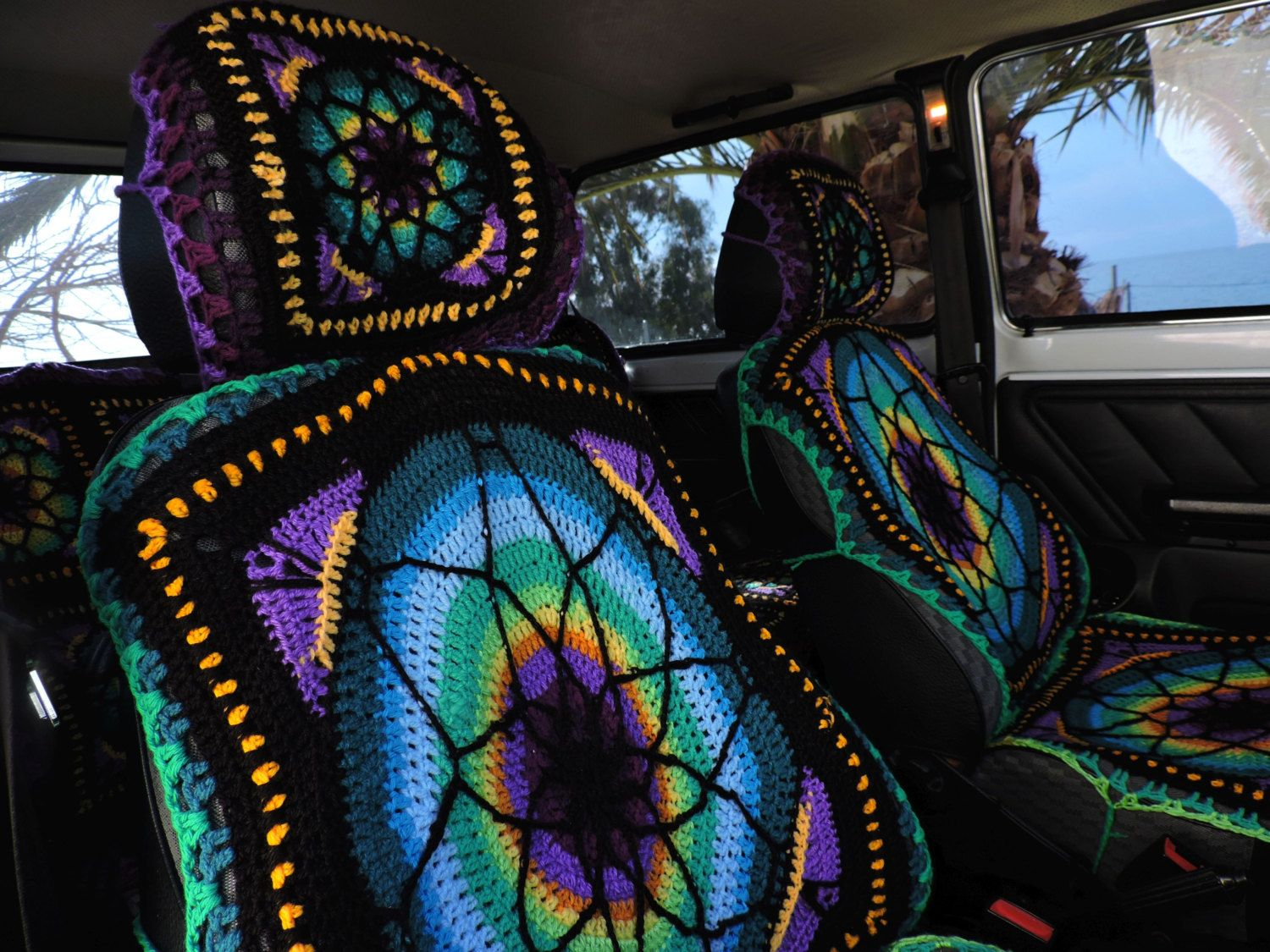 From A Ravelry Post Jeep Seat Covers Car Crochet Cushions