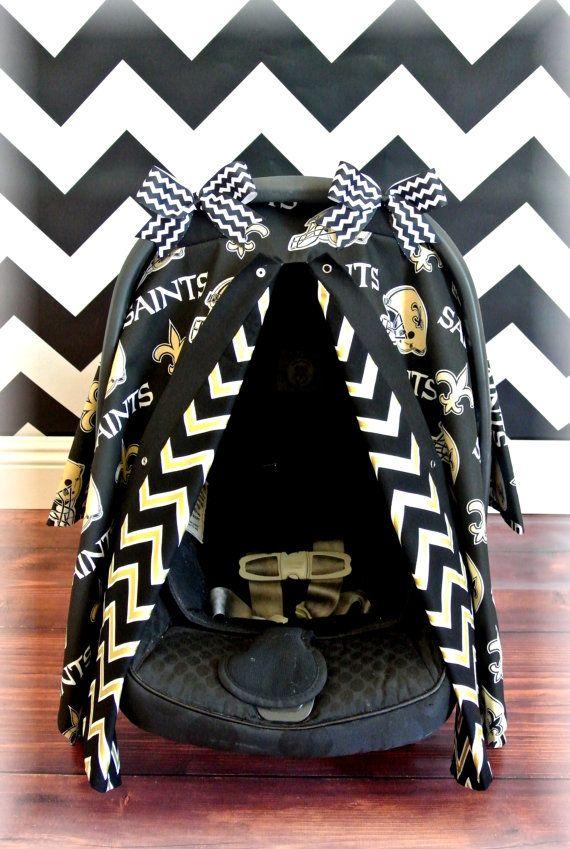 NFL Car Seat Canopy Cover SAINTS New By JaydenandOlivia