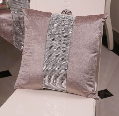 New European Luxury Diamond Cushion Cover Case Cushion Cover Velvet Sofa Square Bed No Home Car Room Dec Wholesale 954 Affiliate Pillows