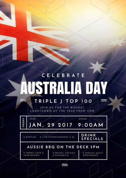 the aussie lineup australia day event promotion template australia