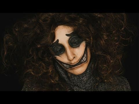 wybie's forced smile  coraline inspired makeup tutorial