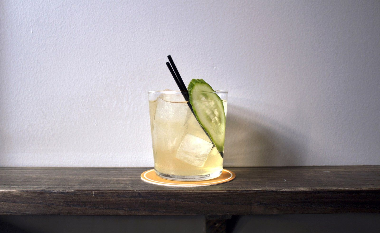 """A Mezcal Refresher With Sherry, Chamomile And Cucumber-""""We still need a name,"""" recallsLeyenda'sco-owner and head bartenderIvy Mixas she nods to fellow bartender and fellow SpeedRack alum Shannon Ponche, who"""