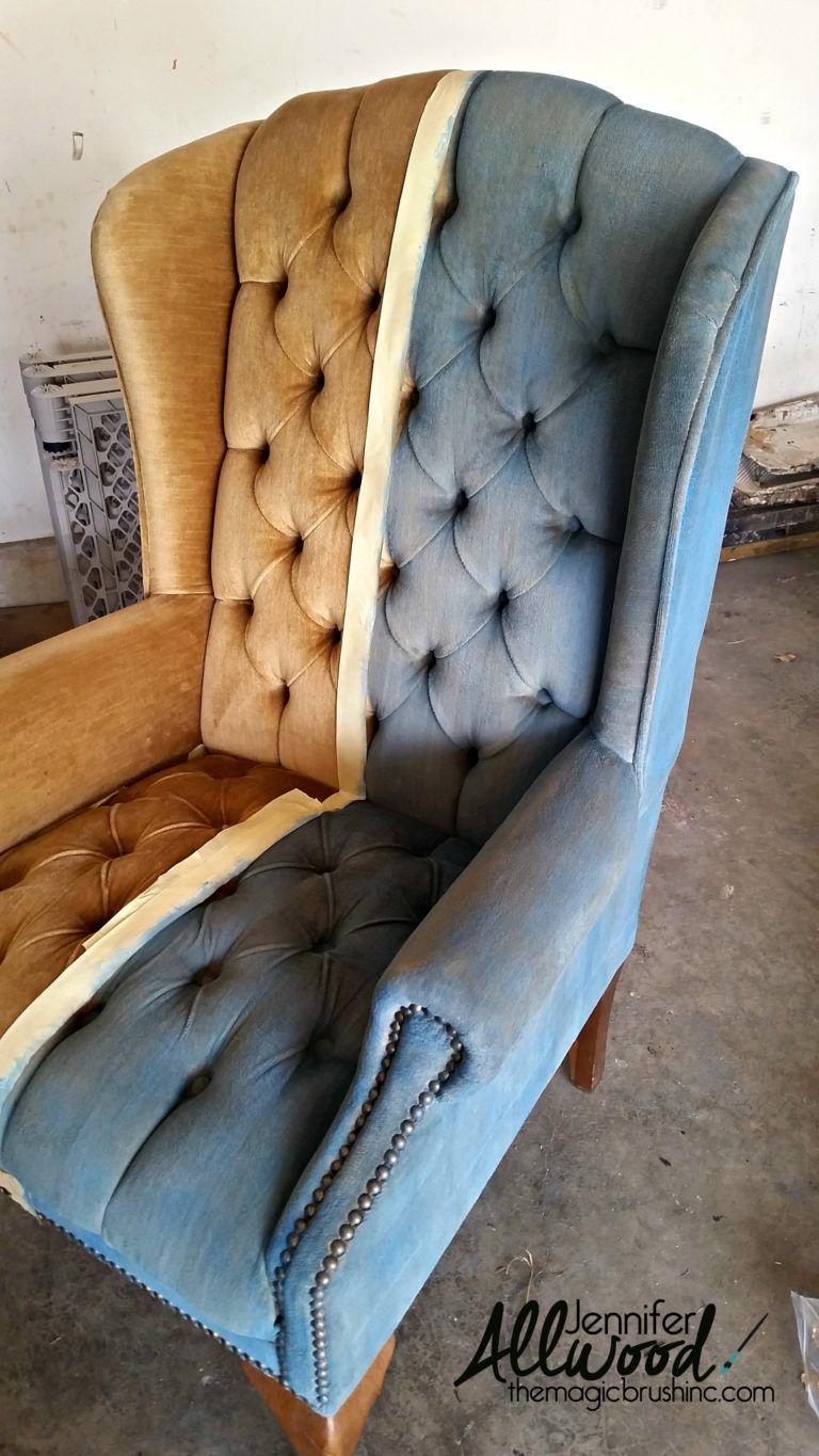 paint velvet fabric a chair makeover diy projects painting rh pinterest com