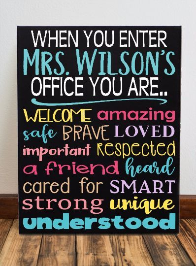 When You Enter This Office Decor Classroom Hanging Canvas