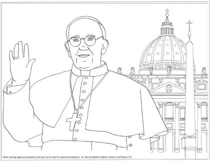pope francis and basilica and tons of other coloring pages