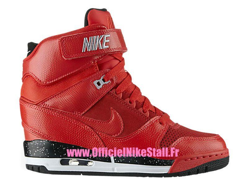 check out d7e0f 1ed1a Nike Air Revolution Sky Hi GS - Chaussure Montante Nike Pas Cher Pour Femme  Action Rouge Noir-Wolf Gris 599410-600