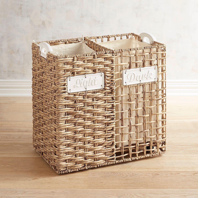 Light Dark Divided Hamper Laundry Basket Storage Diy Light In