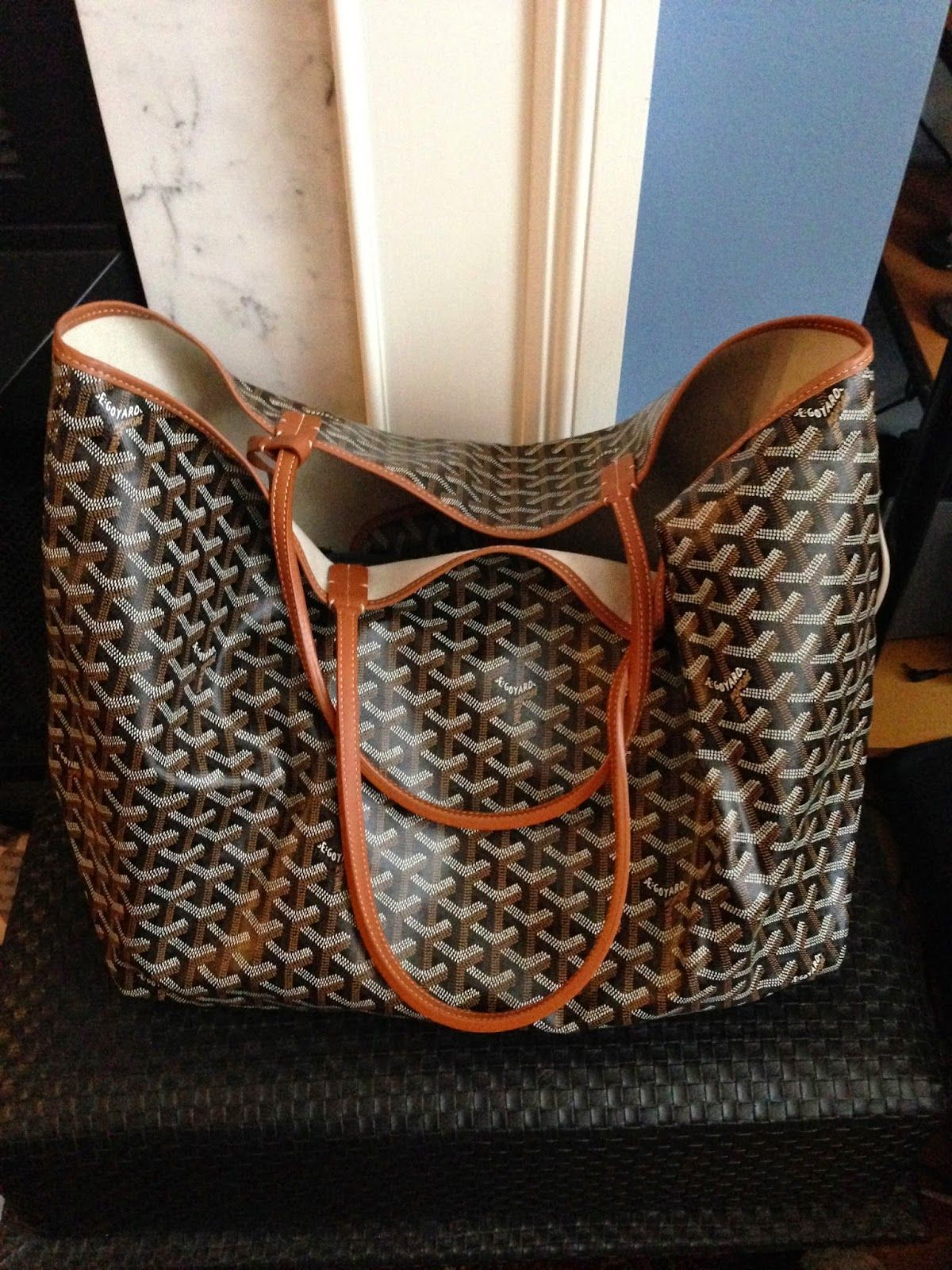 11f0eb135909 Musings of a Goyard Enthusiast. Musings of a Goyard Enthusiast Goyard St  Louis Tote ...