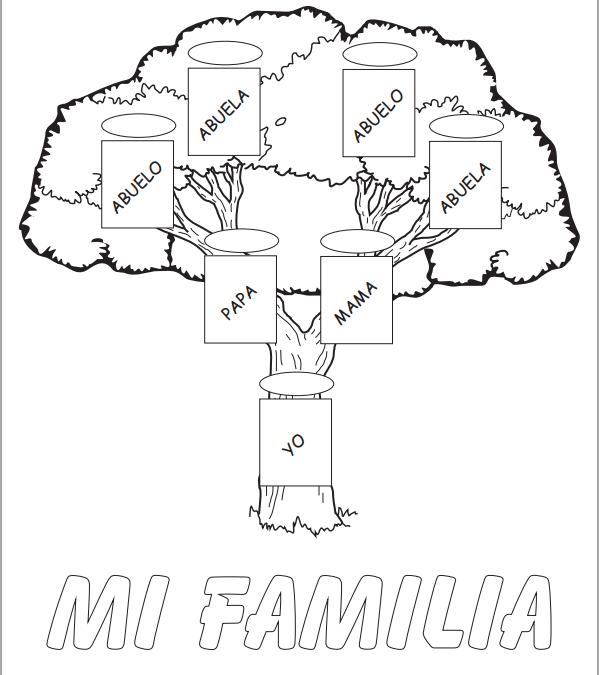 arbol familiar para ninos - Google Search | Homeschool projects ...