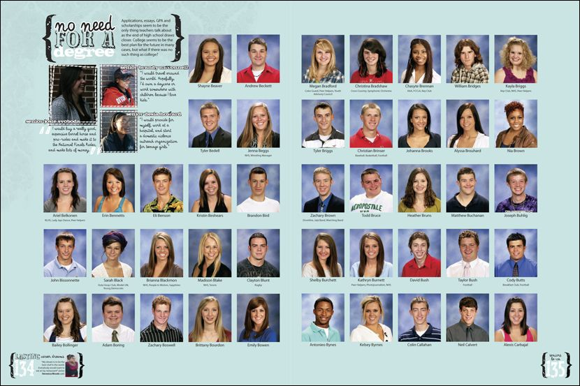 Liberty High School Yearbook Pages 42 43