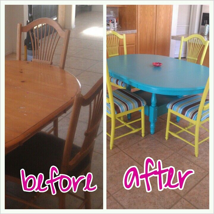 Pine Table Painted With Pine Chairs Used Key Lime Spray Paint Project Cost  40$ For